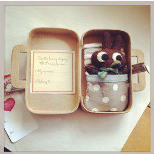 PinkyMinky rabbit suitcase