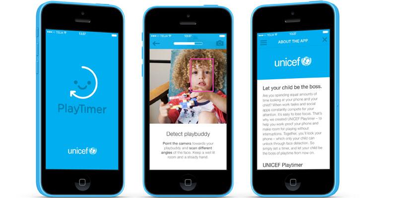 UNICEF PlayTimer Screens