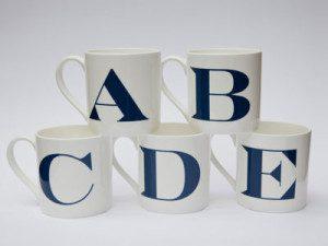 Jinny Ngui Letter mugs