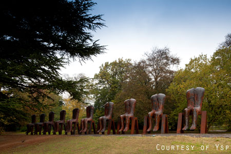 Magdalena Abakanowicz - Ten Seated Figures 2010 © Jonty Wilde