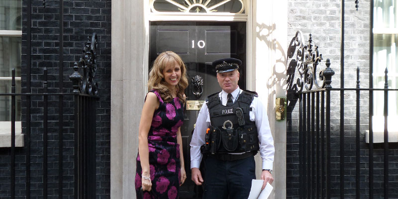 Fiona Tatton at Downing Street