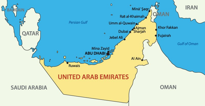 Maps Update 500352 Map of Dubai and Abu Dhabi Maps Update – Map of Abu Dhabi and Dubai