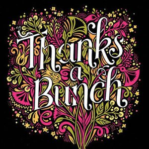 Thanks a bunch illustration by Kate Forrester
