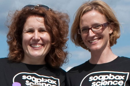 Dr. Nathalie Pettorelli and Dr. Seirian Sumner, founders of Soapbox Science