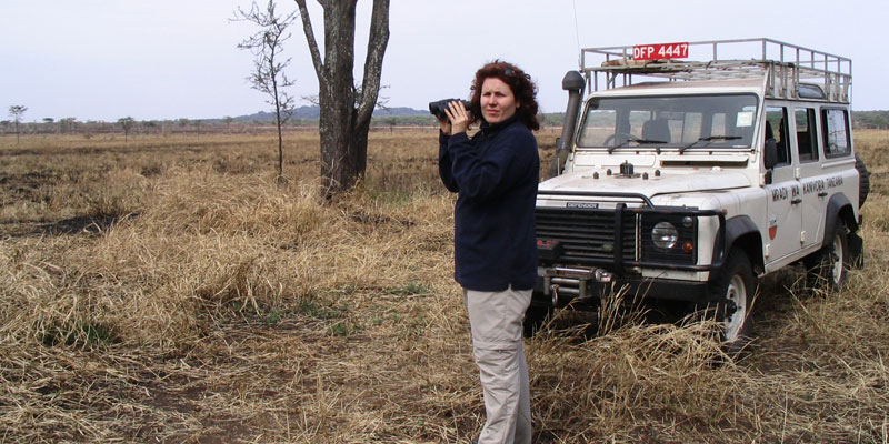 Dr. Nathalie Pettorelli in the Serengeti