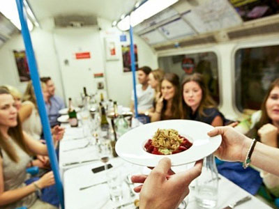 Trip4real London Underground carriage dinner