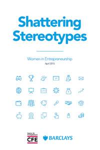 Shattering Centre for Entrepreneurs Stereotypes report cover