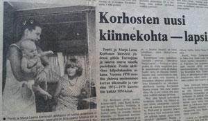 Pentti Korhonen newspaper article