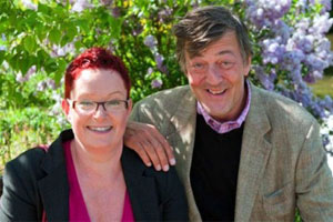 Dr Sue Black with Stephen Fry