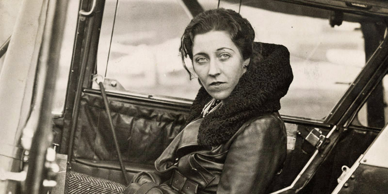 Amy Johnson in her plane in 1932