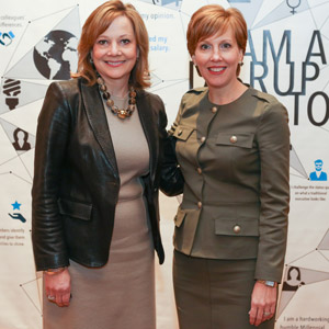 Mary Barra and Deborah Gillis