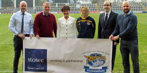 Leeds Rhinos Foundation partnership with Stowe Family Law