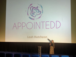 Leah speaking at the EntrepreneurLIVE 2014 tour