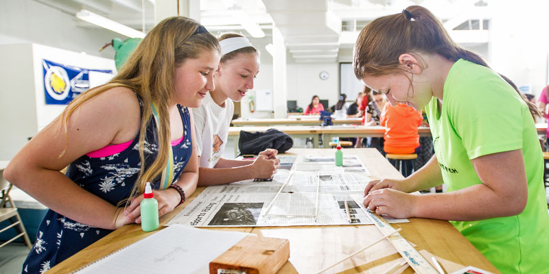 Girls in engineering STEM outreach