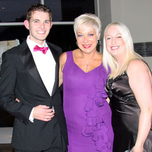 Adam and Sarah Lockey with Denise Welch