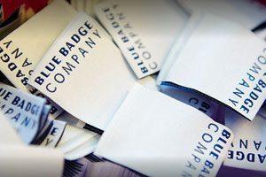 Blue Badge Company labels