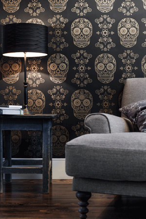 Anatomy Boutique Sugar Skull wallpaper