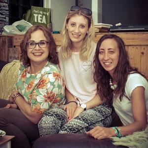 Gina Denham and her daughters