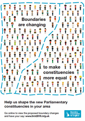 Boundary Commission England 2018 Consultation cover