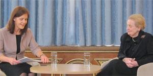 Joanna Roper interviewing Madeleine Albright