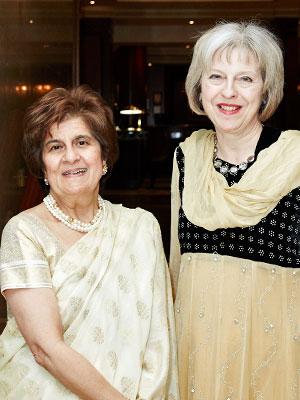 Pinky Lilani and Theresa May