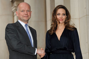 William Haigh and Angelina Jolie