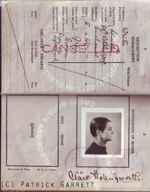 Clare Hollingworth passport