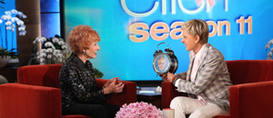 Elinor Otto with Ellen DeGeneres