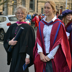 Cheryl after she had received her Honorary Doctor of Science from St Andrews