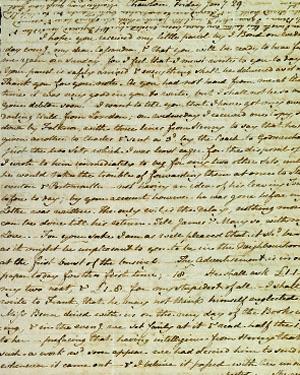 Jane Austen's letter