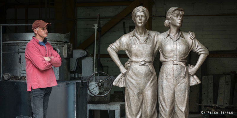 Martin Jennings - Women of Steel, Sheffield