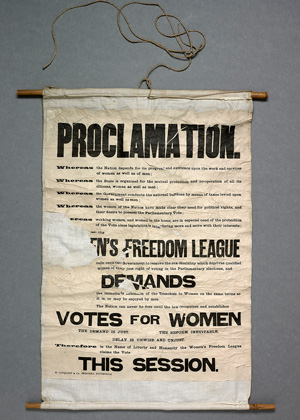 Parliamentary Archives - suffragette banner