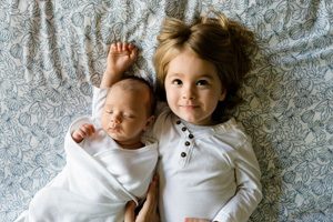 Baby and brother
