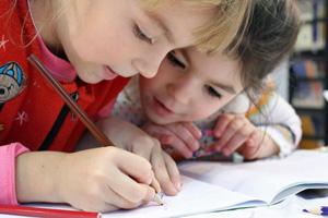 Girls drawing
