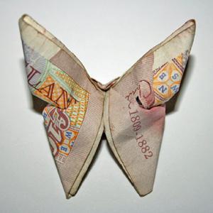 Origami ten pound note