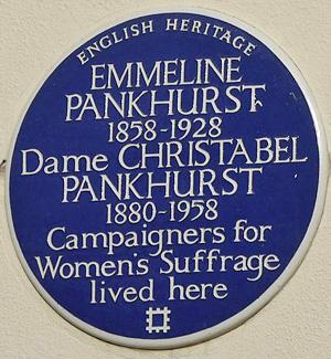 Emmeline Pankhurst - 50 Clarendon Road, London - English Heritage blue plaque