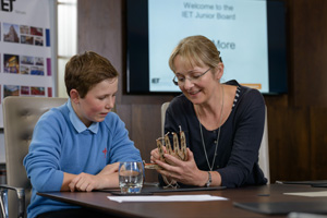 IET Junior Board member Ollie Gould and Naomi Climer
