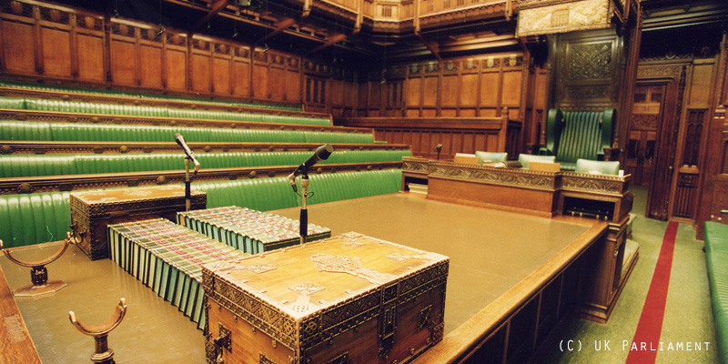 Speaker's table - House of Commons