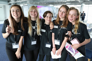 Girls-participating-in-the-IET-Faraday-challenge