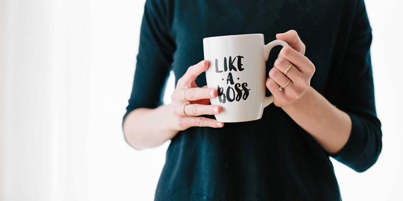 Woman-holding-Like-a-Boss-mug
