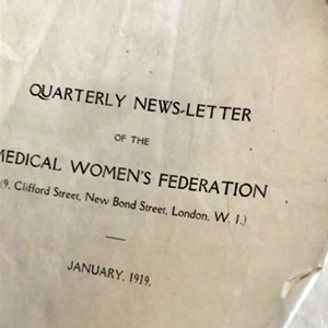 Medical Women's Federation newsletter from 1919