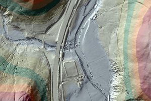 Environment-Agency - Lidar map of Roman road
