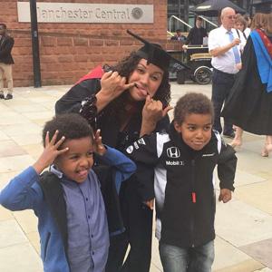 Claire-Mur'Tala-graduation - Manchester Metropolitan University