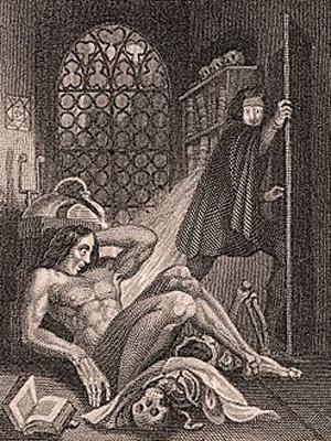 Frankenstein Frontispiece - 1831