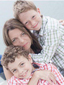 Janine Canham and her sons