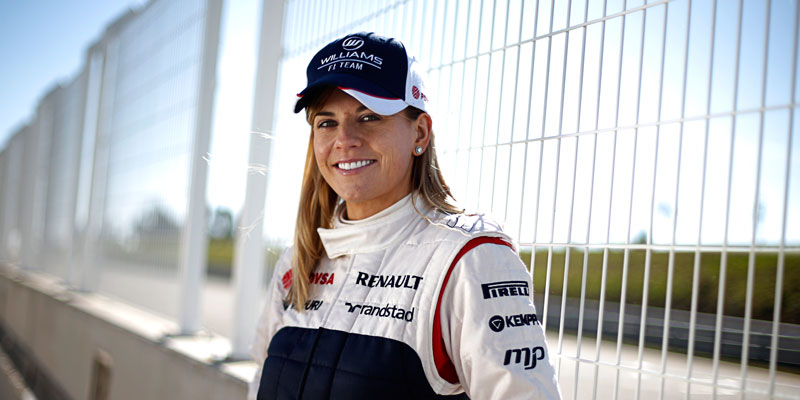 Susie Wolff at track
