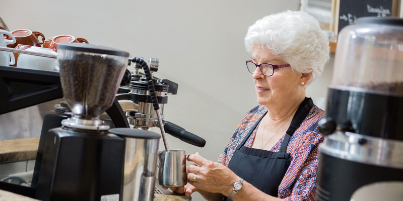 Older women at work
