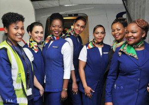 South African Airways staff and crew