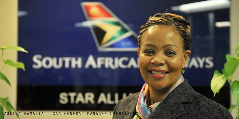 South African Airways GM Operations Zukisa Ramasia