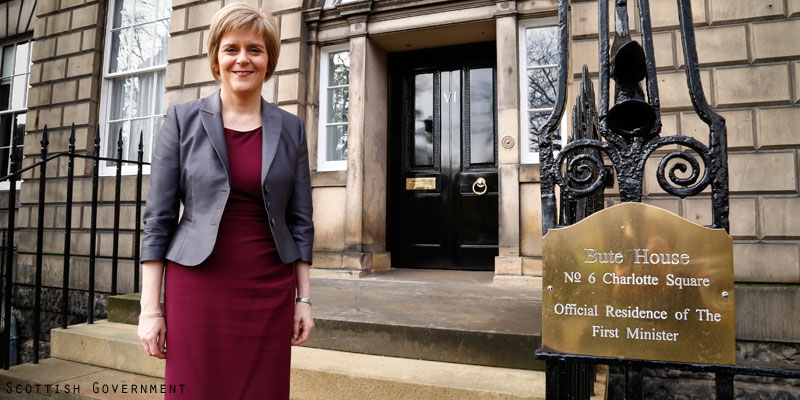Nicola Sturgeon at Bute House